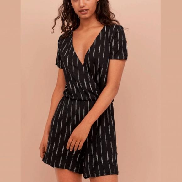 H&M Pants - Wrap-Front Short Sleeve Romper